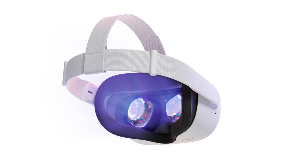 Oculus Quest 2 mit Blick auf die Linsen