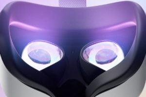 Die Rückseite von Facebooks VR-Brille Quest 2