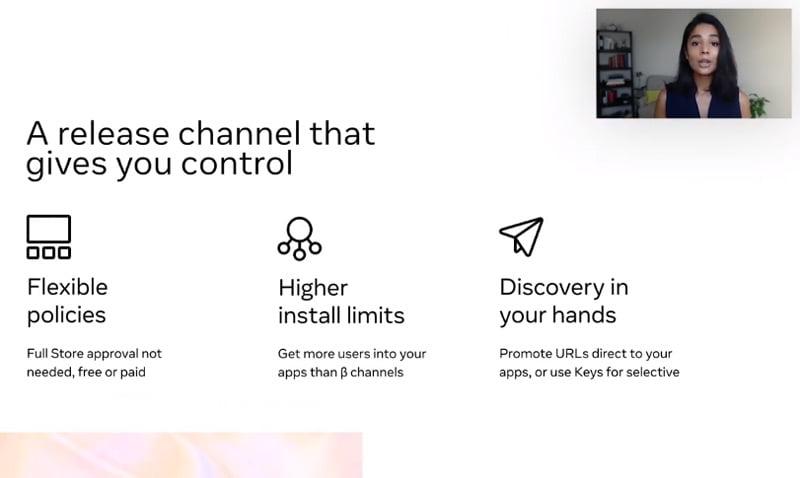 Die Off-Store-Distribution ermöglicht es Entwicklern, Apps im Oculus Store ohne vorherige Facebook-Genehmigung zu veröffentlichen.   Bild: Facebook