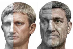 Augustus_und_Maximinus Thrax_Büste_und_KI-Bild