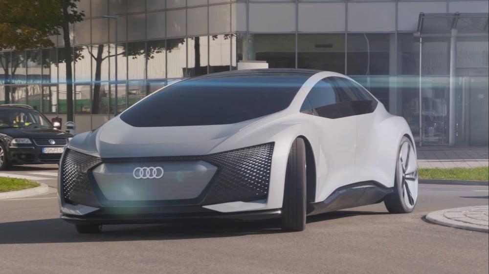 Ein autonom fahrendes Konzeptauto des Automobilherstellers Audi.