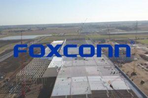 Ein Foxconn-Produktionswerk aus der Vogelperspektive.