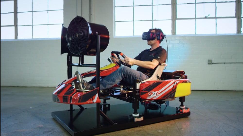 VR-Kart-Simulator bringt Fahrtwind ins Wohnzimmer