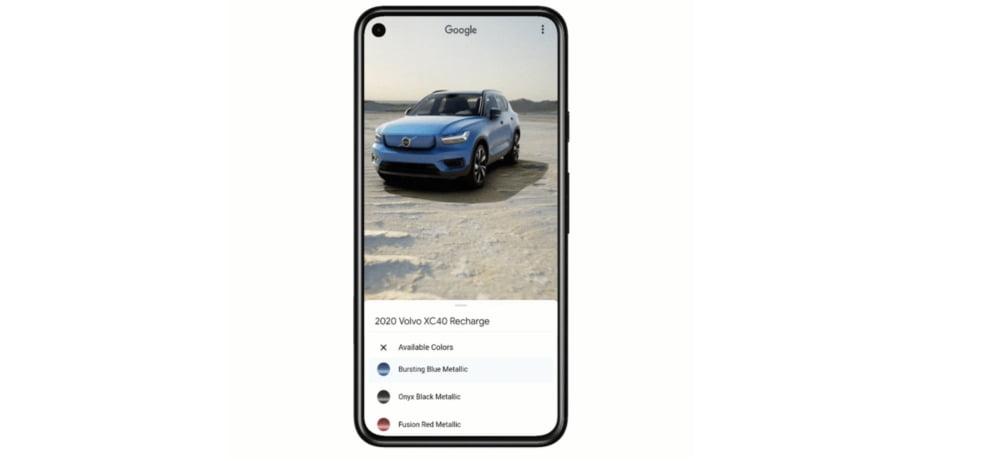Google Lens kündigt AR-Auto-Showroom an.