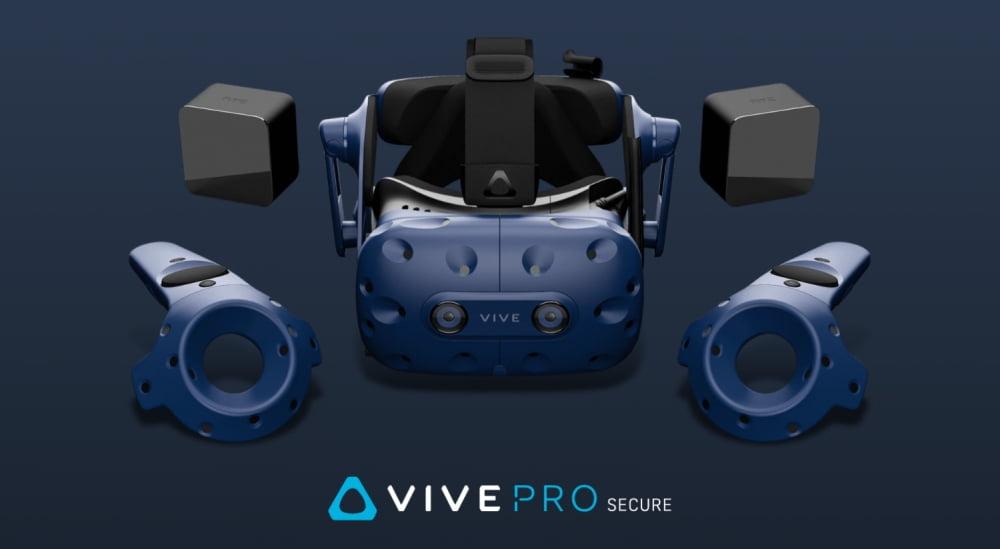 Die VR-Brille HTC Vive Pro Secure für gehobene Sicherheitsanforderungen.