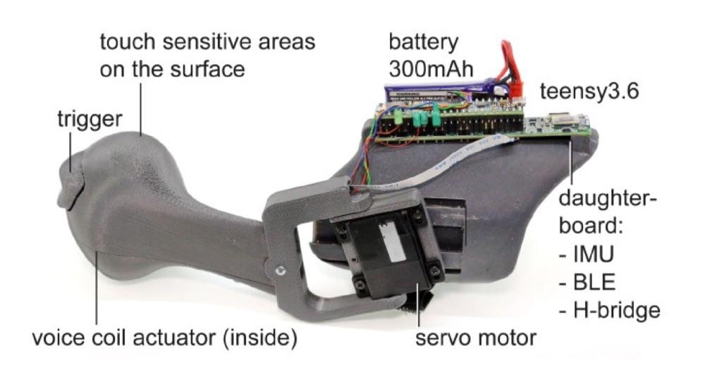 """Das Bild zeigt, welche Technik im Haptik-System """"PIVOT"""" steckt."""