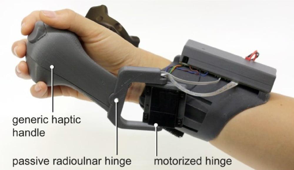 "Die Bestandteile des VR-Haptik-Controllers ""PIVOT""."