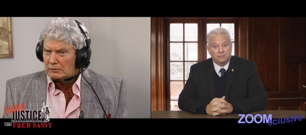 """Die Deepfakes von Donald Trump und Al Gore in der Serie """"Sassy Justice"""""""