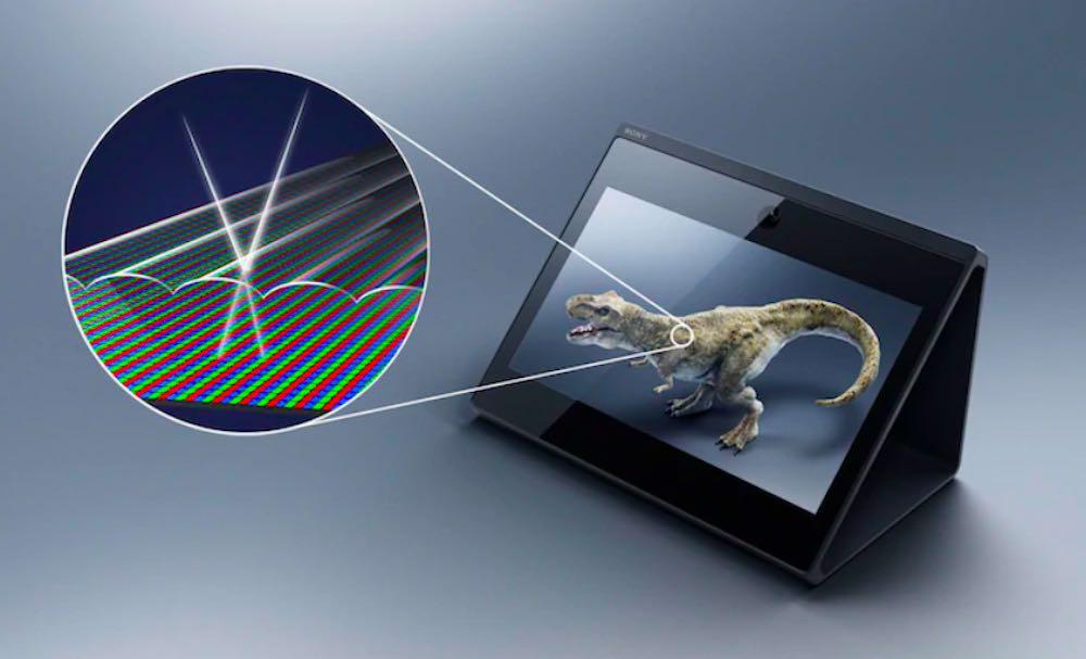 Sony_Spatial_Reality_Display_Lentikularrasterbild