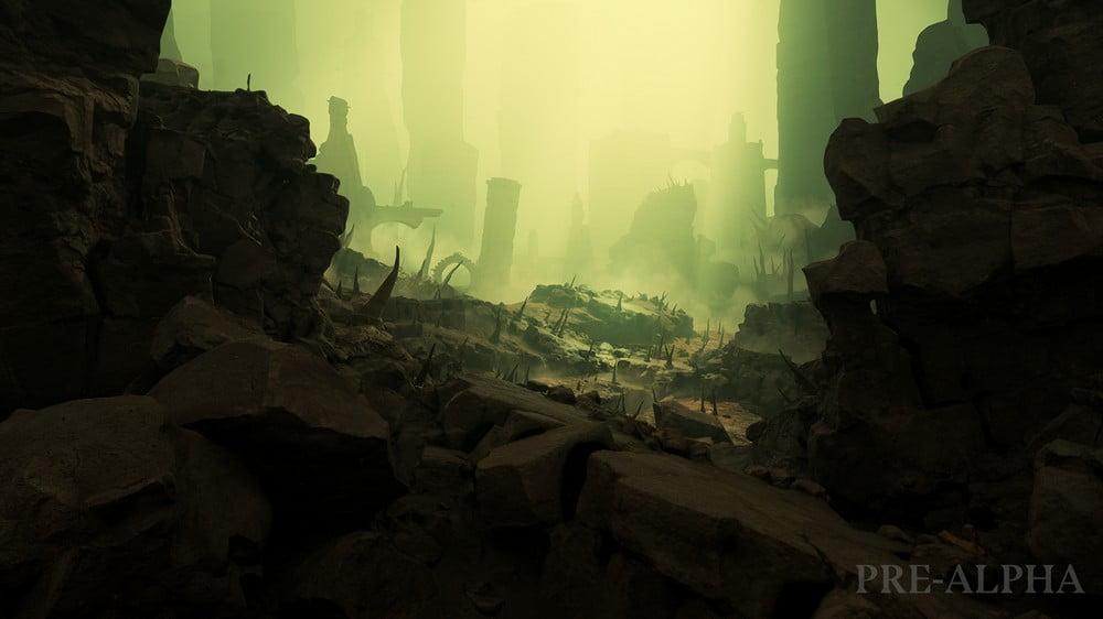 Ein Level der Todeswelt Shyish im VR-Spiel Warhammer Age of Sigmar: Tempest
