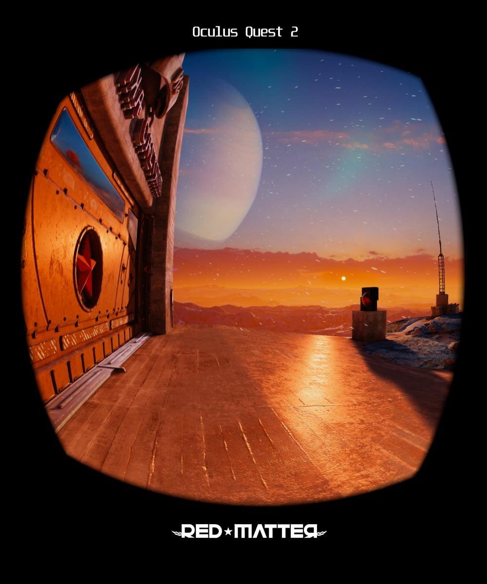 Das VR-Spiel Red Matter auf der Oculus Quest 2.