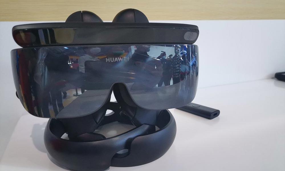 Die VR-Brille von Huawei sieht aus wie eine Ski-Brille.
