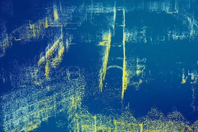 Innerhalb dieser Punktewolke können Snap-Nutzer ihre digitale Farbe miteinander teilen. | Bild: Snap