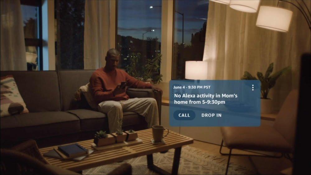 Das Amazon Care Hub senden Meldungen an die Alexa App.