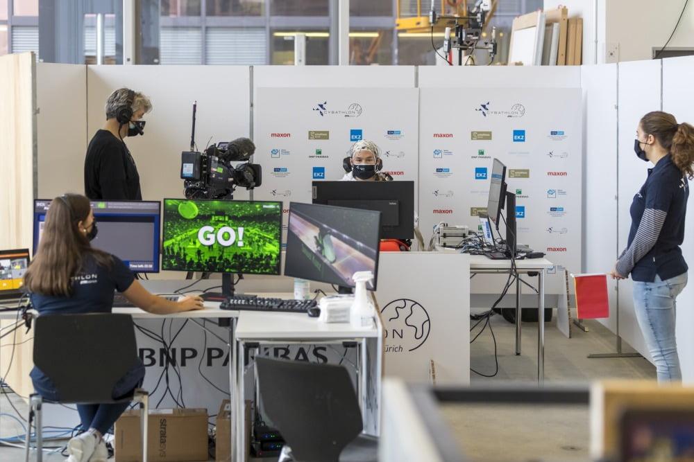 Ein Teilnehmer des Brain Computer Interface Race am Cybathlon 2020.