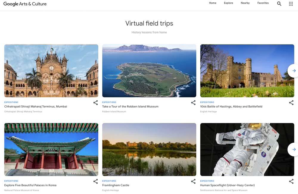 Die Expeditions-Touren leben in der Google App Arts & Culture weiter. Die für den Klassenraum optimierte Expeditions-App wird allerdings eingestellt. | Bild: Google