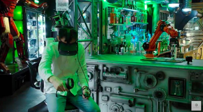 In dieser Bar serviert ein VR-Roboter das Bier