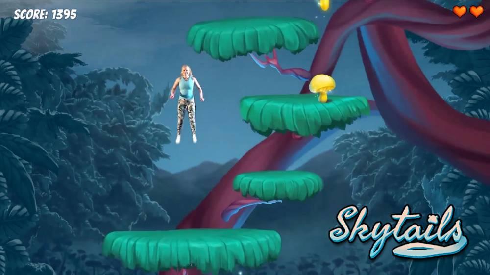 Trampolin-Game macht euch zur Jump'n'Run-Spielfigur