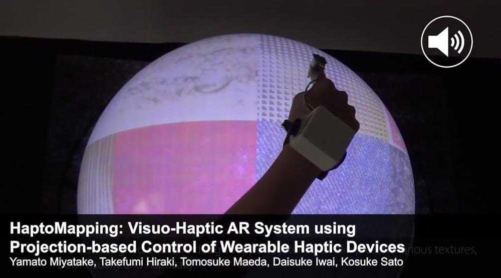 Der Fingerclip soll digitale Oberflächentexturen realistisch fühlbar machen. | Bild: via Siggraph Asia