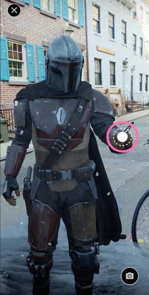Das AR-Modell des Mandalorianers ist hochwertig gerendert und macht geduldig Selfies mit euch. | Bild: Google