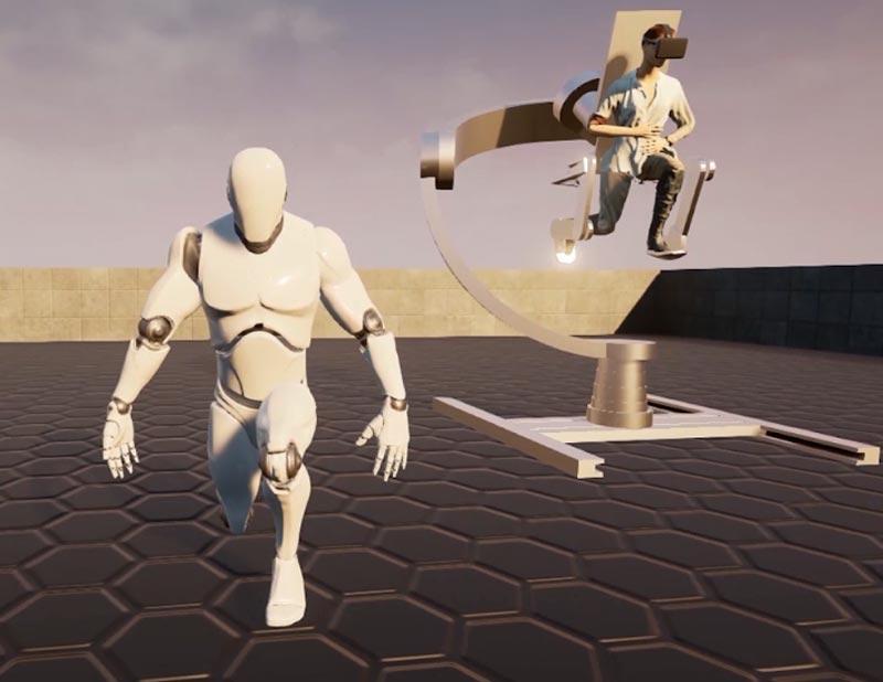 So sieht die Zukunftsversion des Holotrons aus: deutlich schlanker, montiert auf einem frei beweglichen Gimbal-Ständer. | Bild: Holotron