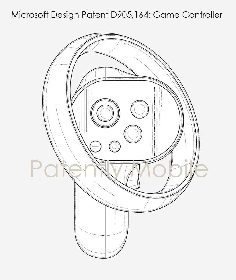 Microsofts Design-Patent für VR-Controller erinnert an HPs Reverb G2 Controller | Bild: Microsoft