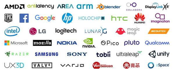 Der OpenXR-Standard wird von den wichtigsten XR-Unternehmen unterstützt. | Bild: Khronos Group