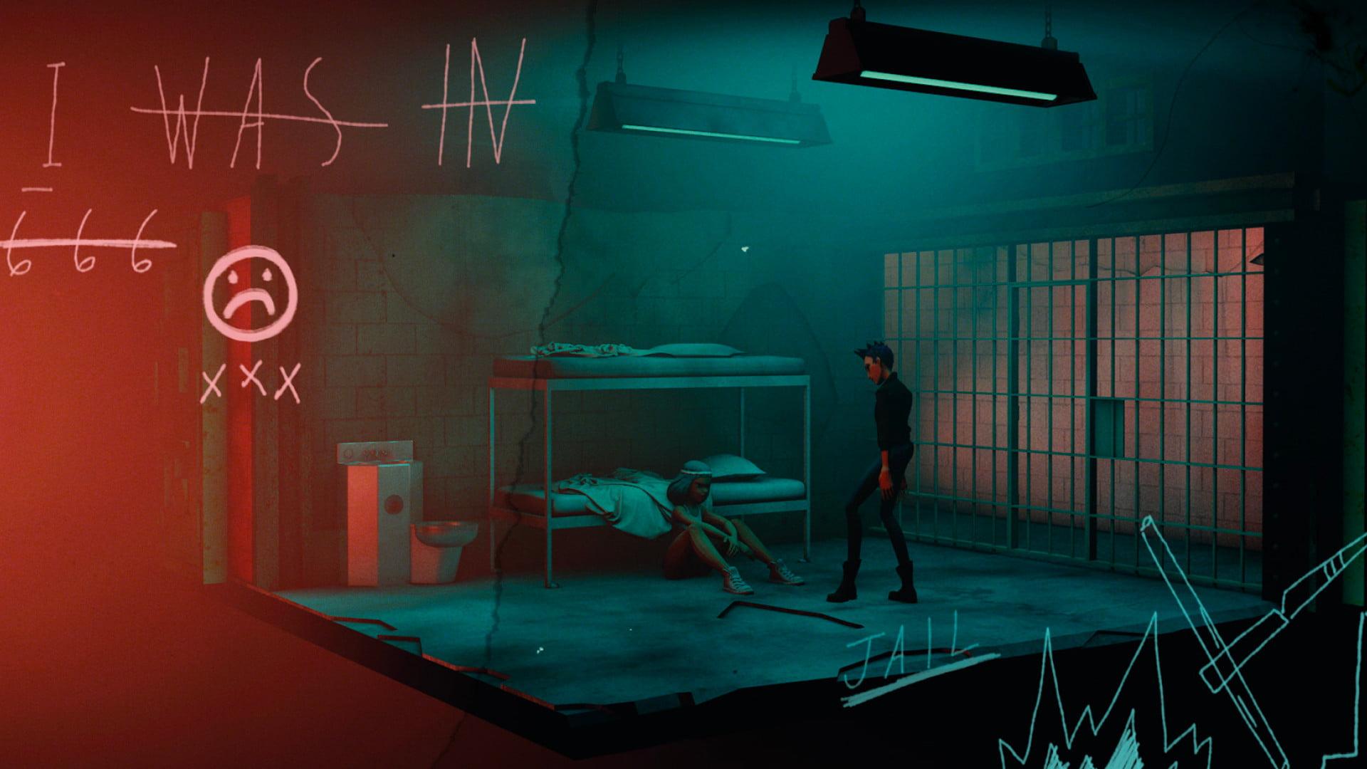 Lupe und Debbie im Gefängnis im VR-Film Battlescar