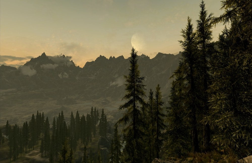 Skyrim_VR_Landschaft_mit-Tannen