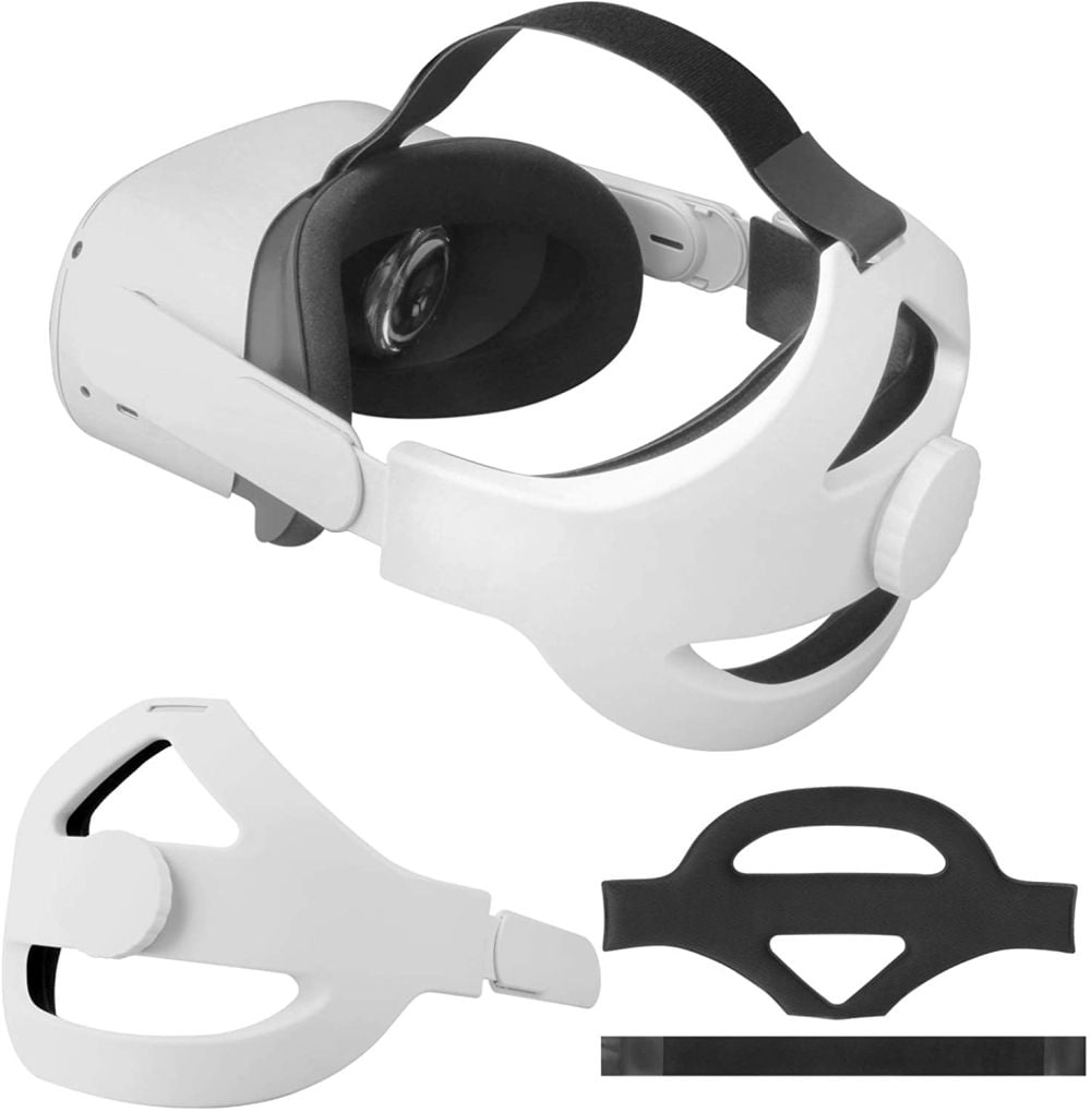 Der Vakdon Kopfgurt für die Oculus Quest 2 ist eine preiswerte Alternative für den Oculus Elite Strap. | Bild: Vakdon