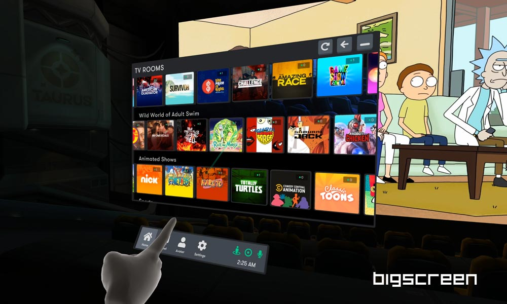 Bigscreen: Mehr TV und Desktop-Streaming für Oculus Quest