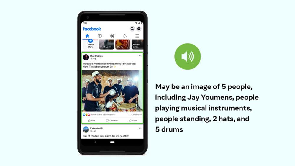 Facebooks neue Bildanalyse-KI kann mehr Objekte auf einem Bild erkennen und sie auch räumlich verorten, beispielweise in den Hinter- und Vordergrund. | Bild: Facebook