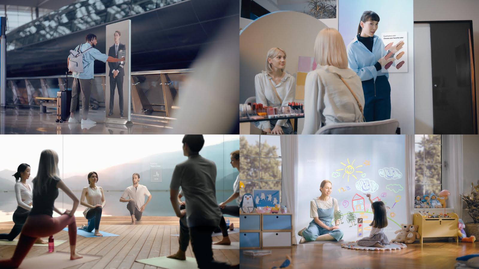 Neon Workforce: Unternehmen sollen digitale Wesen als Angestellte beschäftigen beispielsweise für Yoga-Kurse oder als Servicekraft. | Bild: Neon