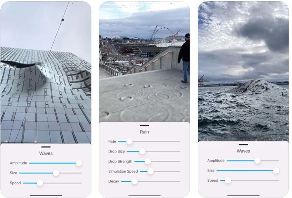 Diese iPhone-App lässt es überall regnen