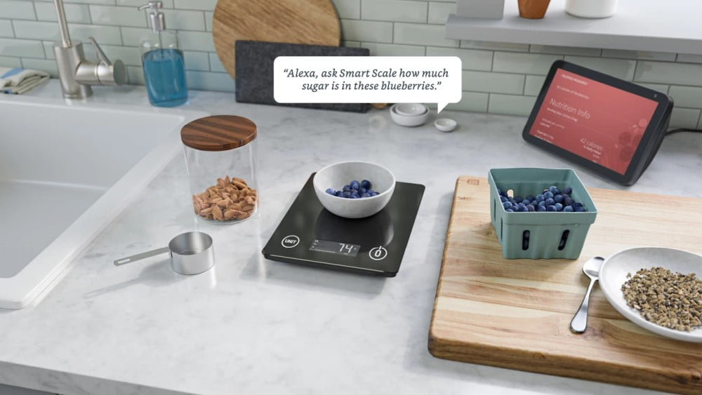 "Amazons smarte Küchenwaage ""Smart Nutrition Scale"" mit Alexa-Funktion."