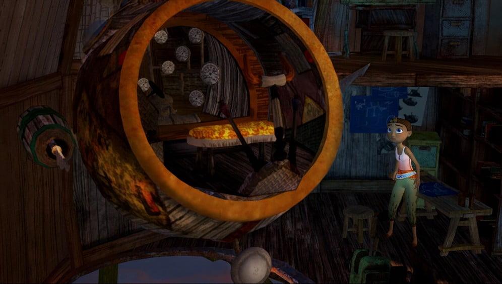 Arden's Wake: Meena steht vor dem U-Boot und wirkt unschlüssig.