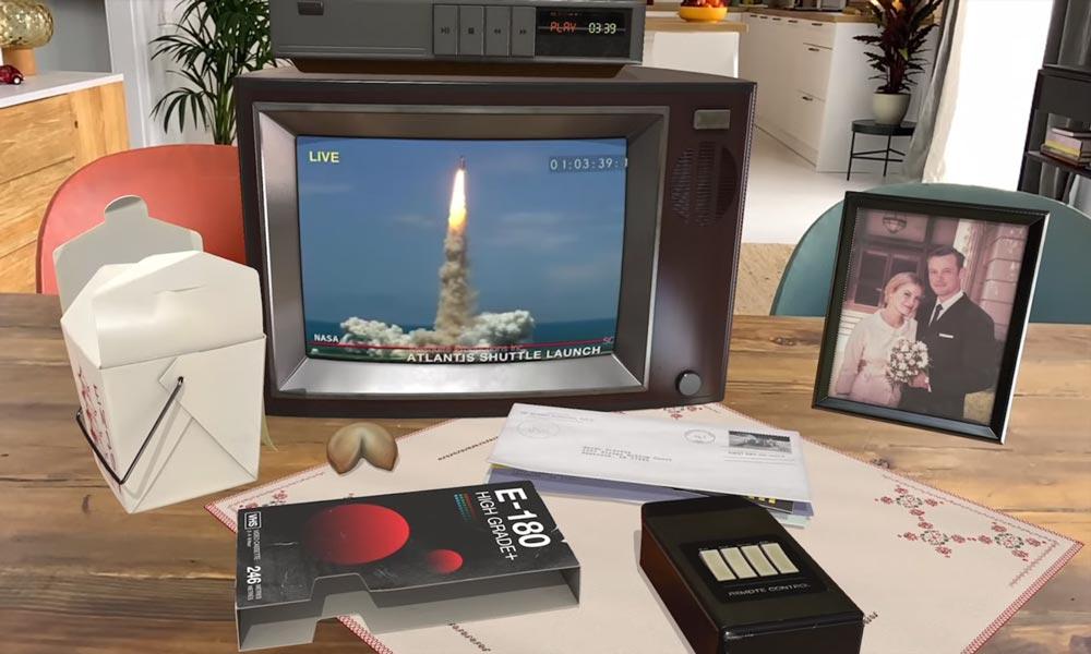 """Apple está expandiendo su servicio de transmisión en Apple TV + usando realidad aumentada.  Comienza con una aplicación de realidad aumentada con tecnología Lidar para la serie mundial alternativa """"Por toda la humanidad"""", Desde el cual puede ejecutar una computadora Apple histórica."""