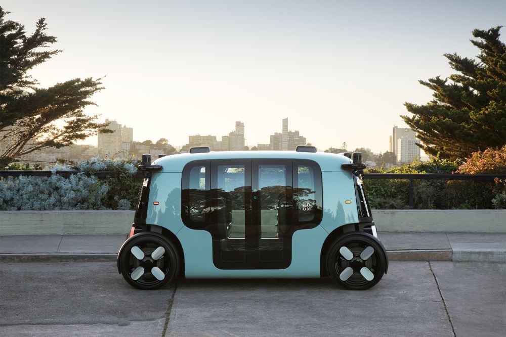 Das autonom fahrende Taxi Zoox.