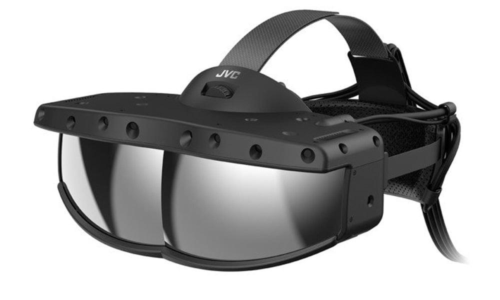 Eine klobige, große Tech-Brille mit durchschtiger Front.