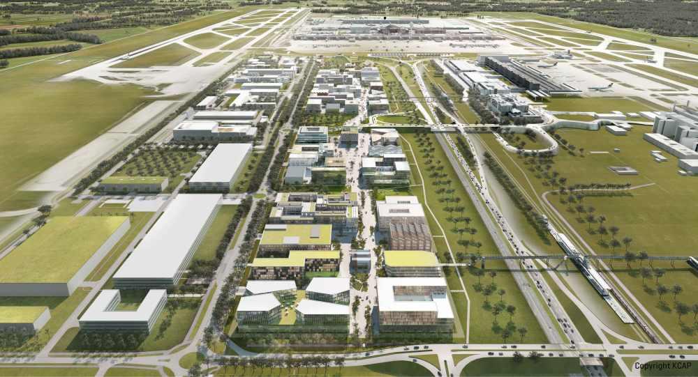 Das Areal des LabCampus am Flughafen München.