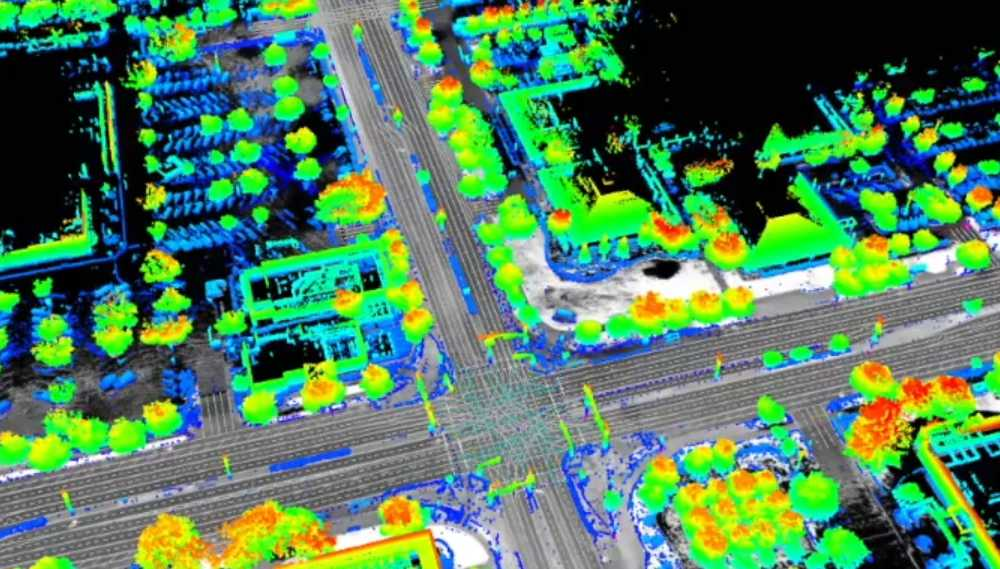 Autonome Fahrsysteme nutzen hochmoderne Sensorsysteme wie Lidar zur genauen Umgebungsanalyse. Warum ist exaktes Kartenmaterial so wichtig?