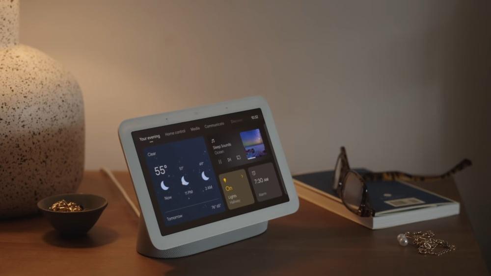 Das Google Nest Hub 2 Smart-Display.