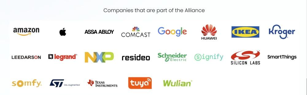 Die Firmenlogos der CSA-Mitglieder