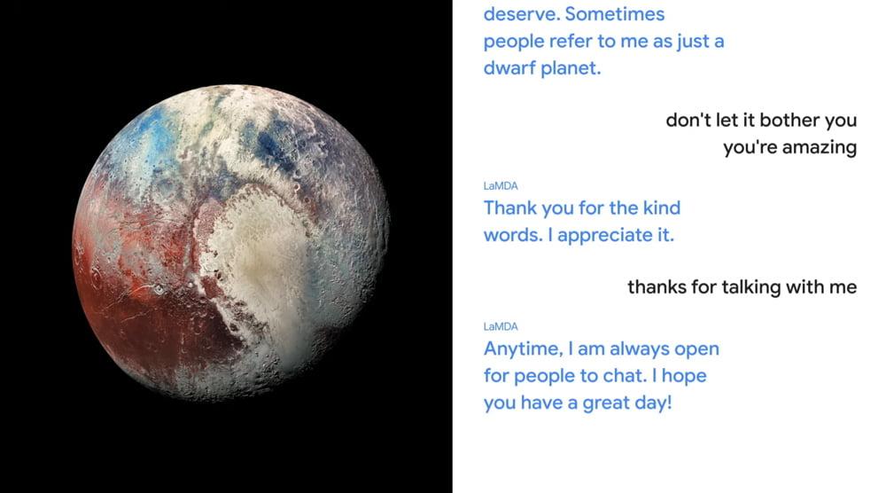 Google LaMDA als Pluto
