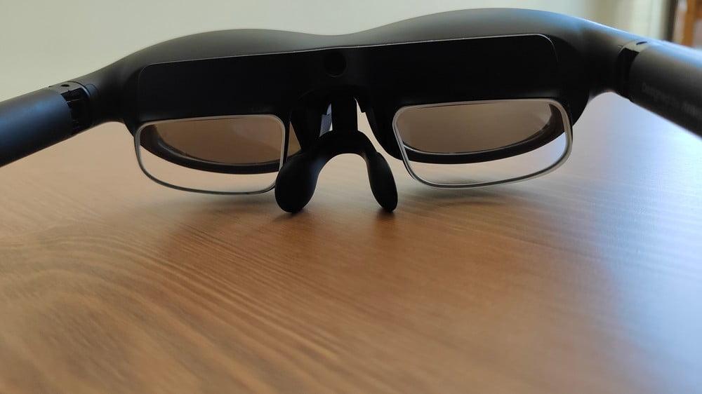 AR-Brille Nreal Light von innen, mit Lens Frames und Korrekturlinsen