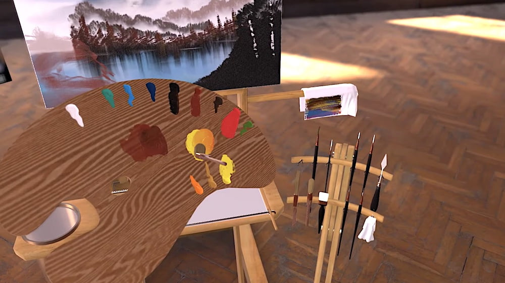 Vermillion VR: Realistische Ölmalerei-Simulation