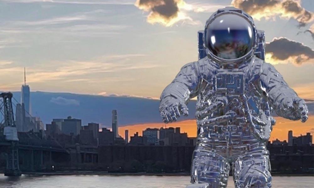 Ein digitaler Astronaut in 3D als AR-Objekt