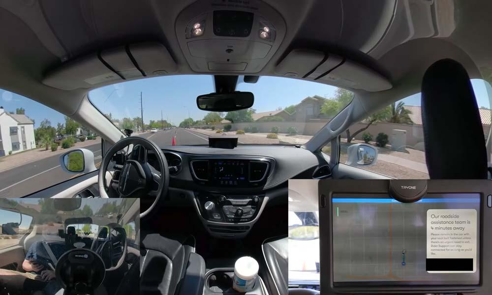Autonome Irrfahrt: Waymo-Taxi parkt auf der Straße