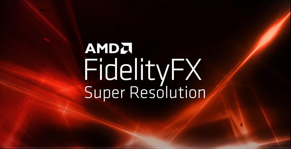Super-Resolution Logo von AMD