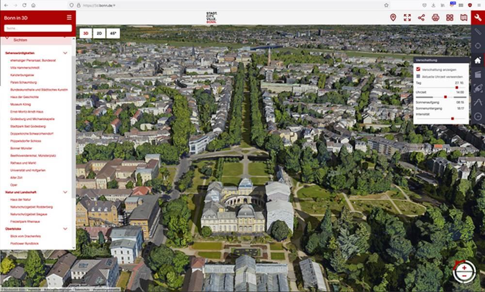 Kostenloses 3D-Modell der Stadt Bonn veröffentlicht
